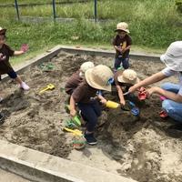 Preschool お砂場で